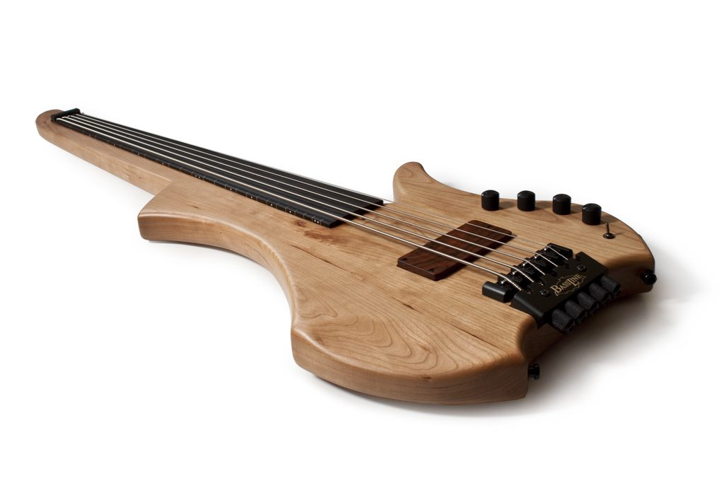 BassLine basses custom bass made in germany fretless singlecut cherry neckthrough