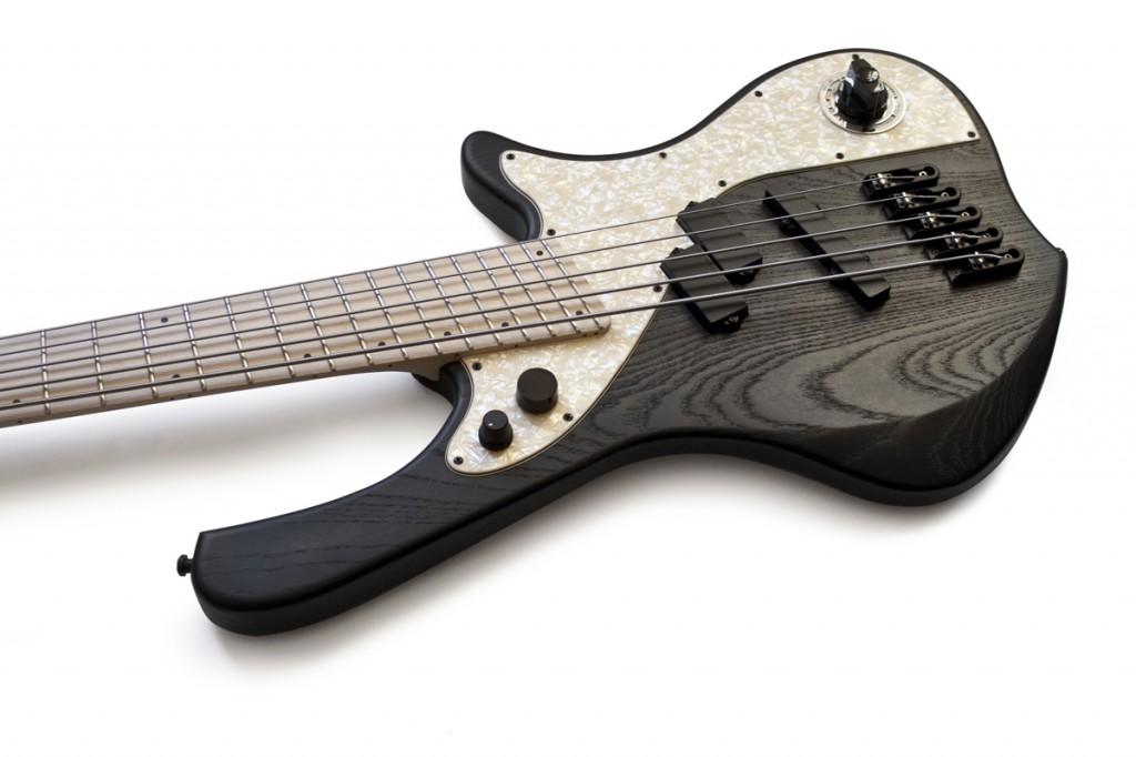 BassLine rebelle series multiscale fanned frets custom bass swamp ash