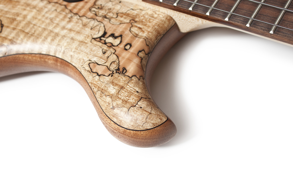 BassLine Buster CW 4_spalted maple custom bass delano