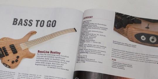 BassLine Bustiny Shoartscale Headless Bass Test Gitarre&Bass