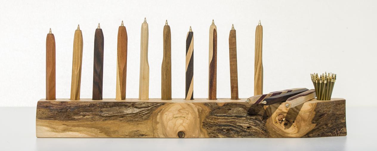 kugelschreiber aus bassline holz. Black Bedroom Furniture Sets. Home Design Ideas